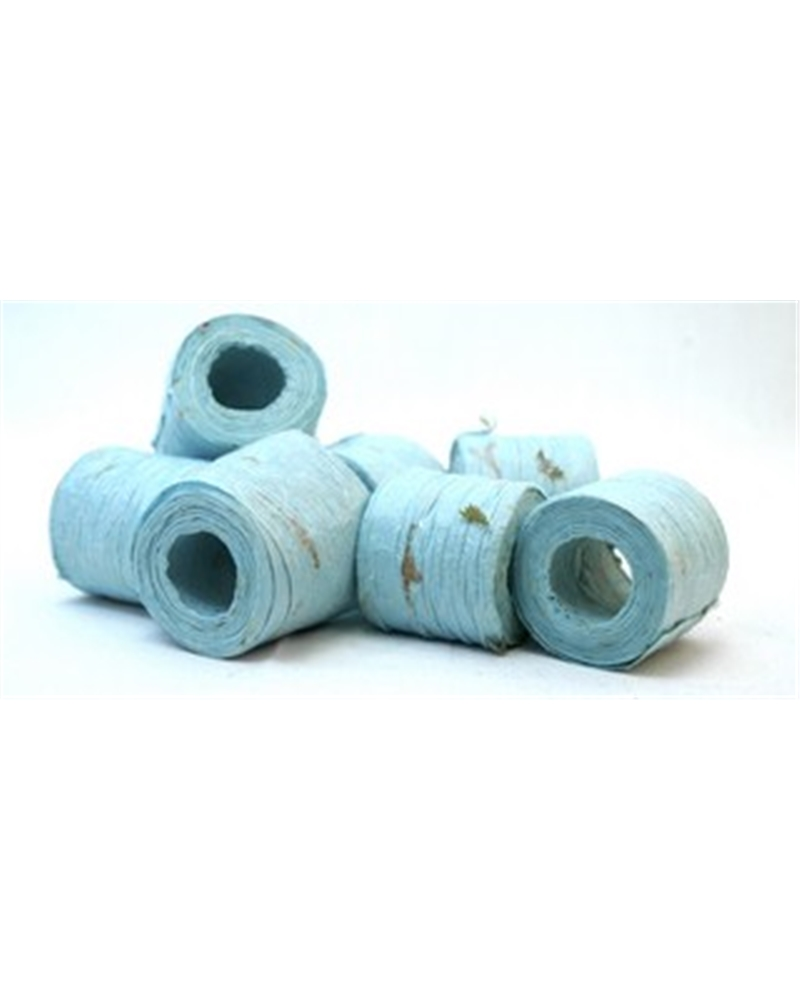 """Rolo Fita Artesenal Wrinkle Azul Claro 2""""x10mts - Azul - 45mmx10mts - FT4491"""